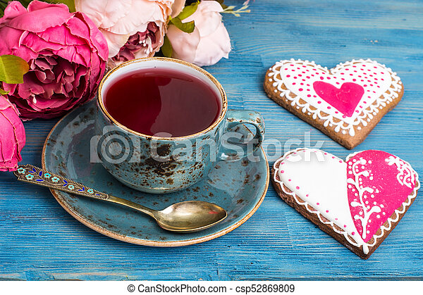 Homemade cookies for Valentine's day - csp52869809