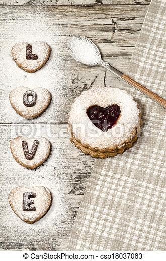 Homemade cookies Valentine's Day - csp18037083