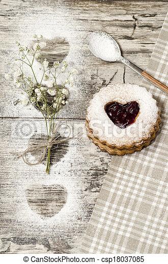 Homemade cookies Valentine's Day - csp18037085