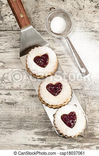 Homemade cookies Valentine's Day - csp18037061