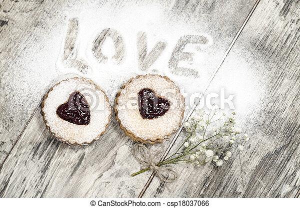 Homemade cookies Valentine's Day - csp18037066