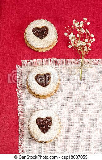 Homemade cookies Valentine's Day - csp18037053