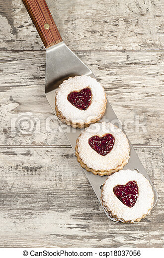 Homemade cookies Valentine's Day - csp18037056