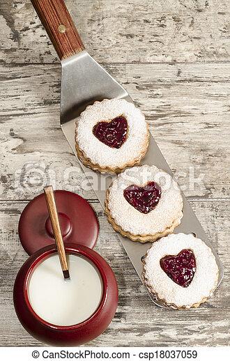 Homemade cookies Valentine's Day - csp18037059