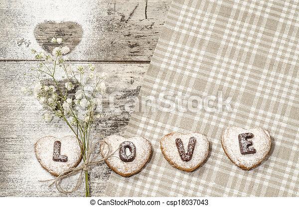 Homemade cookies Valentine's Day - csp18037043