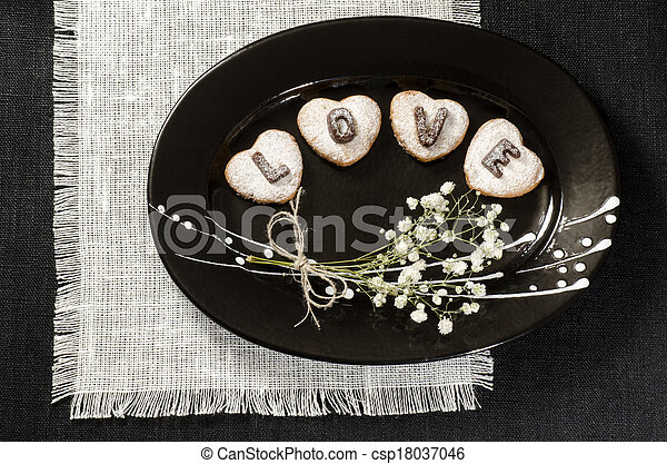 Homemade cookies Valentine's Day - csp18037046