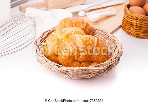 homemade croissants - csp17352321