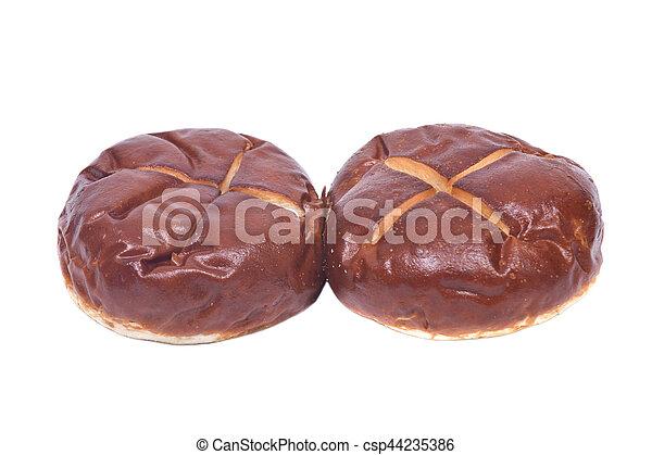 Homemade german soft pretzel buns - csp44235386