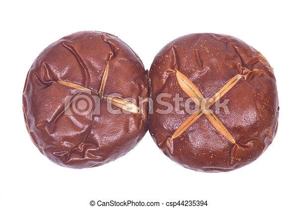 Homemade german soft pretzel buns - csp44235394