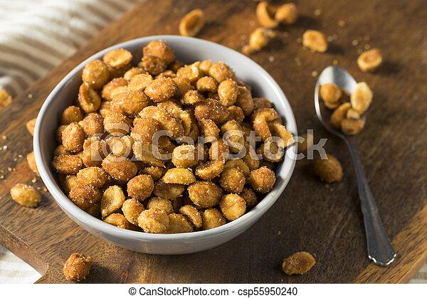 Homemade Honey Roasted Peanuts - csp55950240