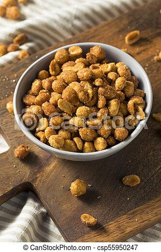 Homemade Honey Roasted Peanuts - csp55950247