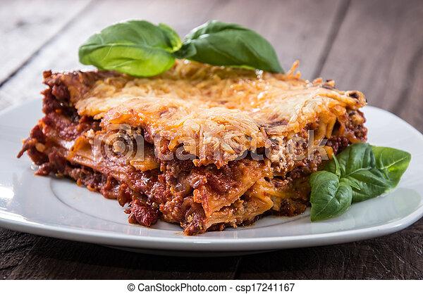 Homemade Lasagna on a plate - csp17241167