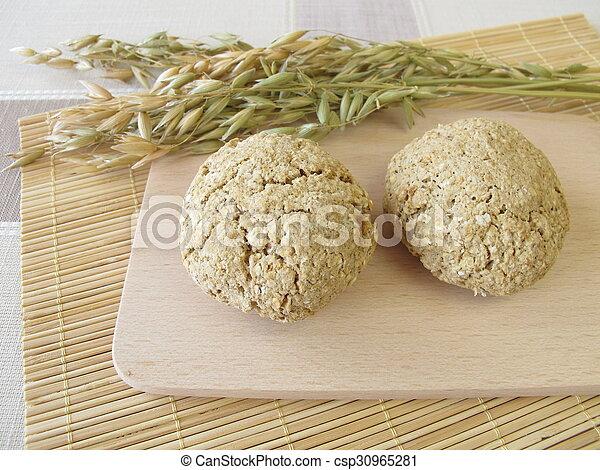 Homemade oats bread rolls - csp30965281
