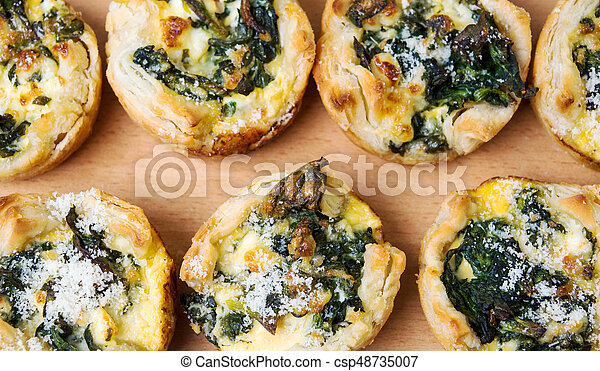 Homemade spinach pie on a plate - csp48735007