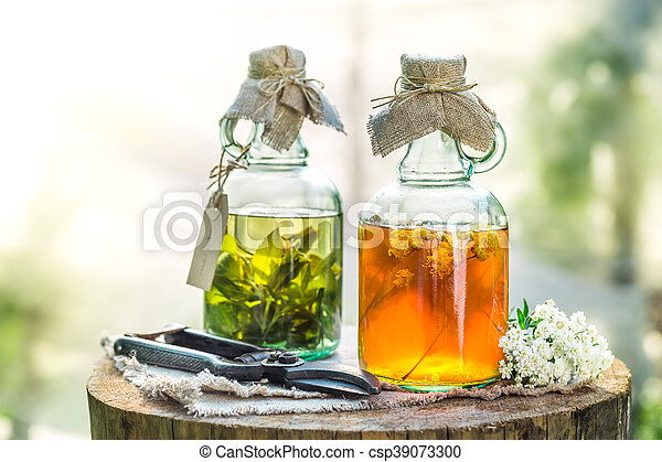 Homemade tincture as homemade cure - csp39073300