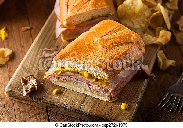 Homemade Traditional Cuban Sandwiches - csp27261375