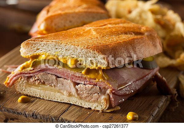 Homemade Traditional Cuban Sandwiches - csp27261377