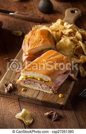 Homemade Traditional Cuban Sandwiches - csp27261360