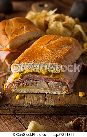Homemade Traditional Cuban Sandwiches - csp27261362