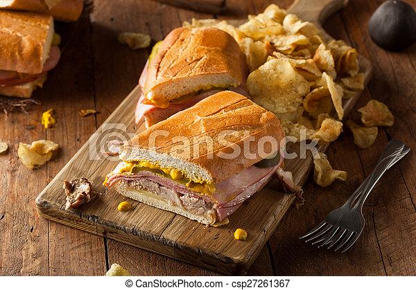 Homemade Traditional Cuban Sandwiches - csp27261367
