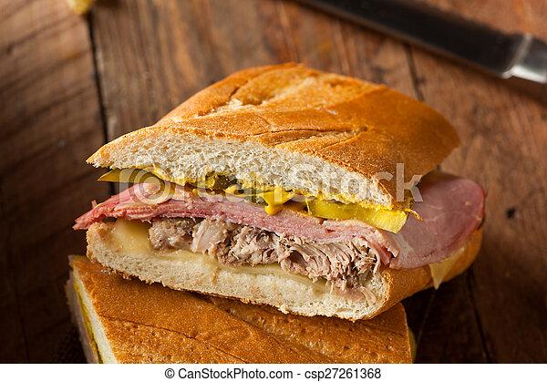 Homemade Traditional Cuban Sandwiches - csp27261368