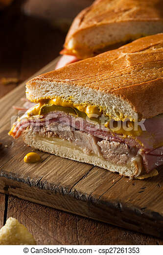 Homemade Traditional Cuban Sandwiches - csp27261353