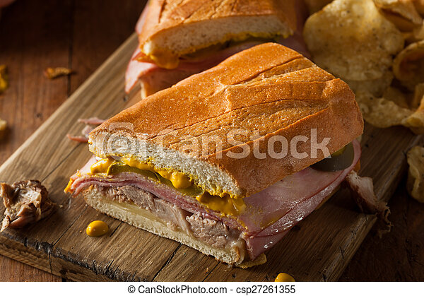 Homemade Traditional Cuban Sandwiches - csp27261355