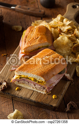 Homemade Traditional Cuban Sandwiches - csp27261358