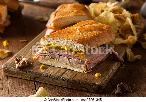 Homemade Traditional Cuban Sandwiches - csp27261345