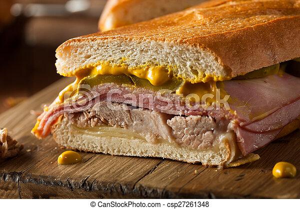 Homemade Traditional Cuban Sandwiches - csp27261348