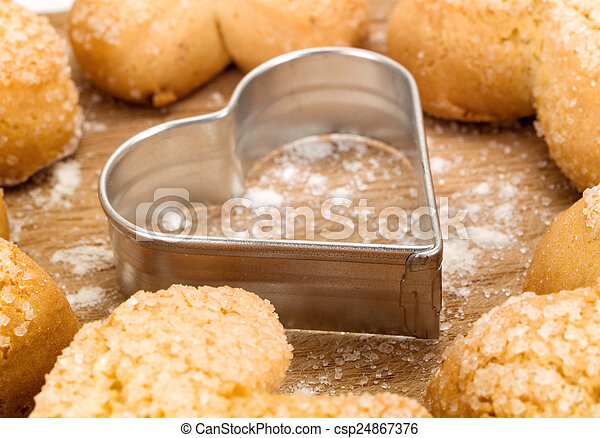 Homemade Valentine's Day Cookies - csp24867376