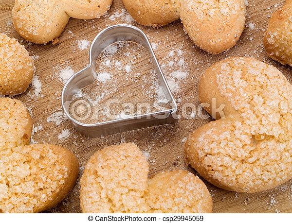 Homemade Valentine's Day Cookies - csp29945059