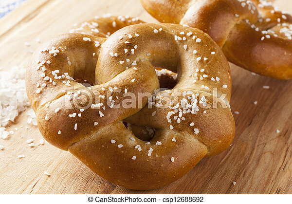 Homemade Warm Soft Pretzel - csp12688692