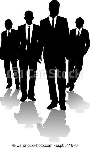 homens, negócio, seta - csp0541670