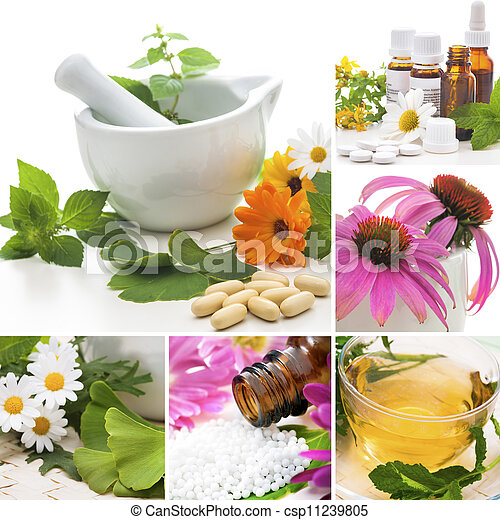 Homeopathy Collage - csp11239805
