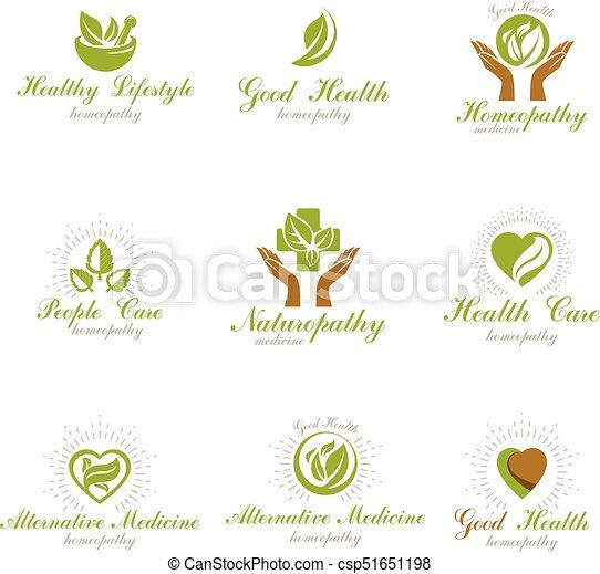 Homeopathy Creative Symbols Collection Naturopathy Conceptual