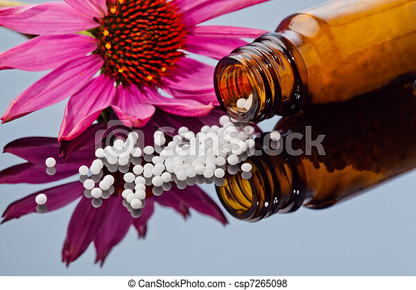Homeopathy. Globules as alternative medicine - csp7265098