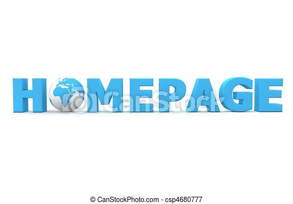 Homepage World Blue - csp4680777