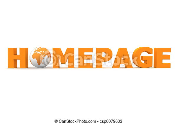 Homepage World Orange - csp6079603