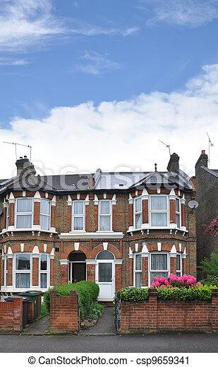 Homes London Suburban Neighborhood - csp9659341