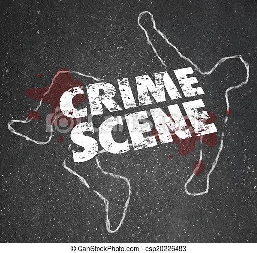 Escena del crimen, homicidio violento, área prohibida - csp20226483