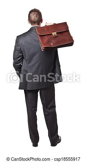 homme affaires, arrière affichage - csp18555917