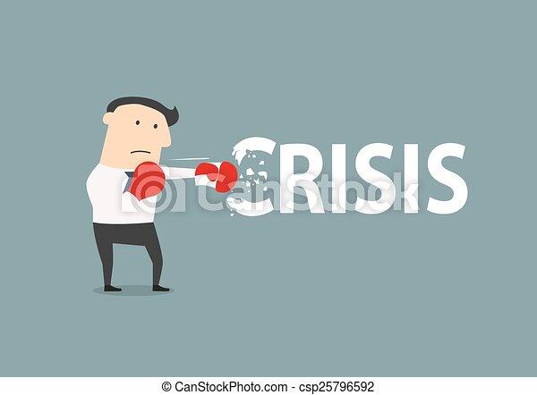 homme affaires, casse, crise - csp25796592