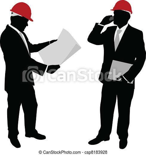 homme affaires, chapeau dur - csp8183928
