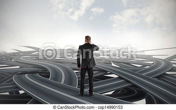 homme affaires, choix - csp14990153