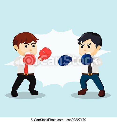 homme affaires, combat, boxe - csp39227179