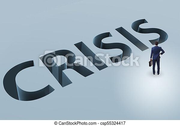homme affaires, concept, financier, crise, business - csp55324417