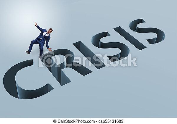 homme affaires, concept, financier, crise, business - csp55131683