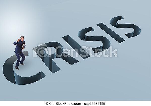 homme affaires, concept, financier, crise, business - csp55538185
