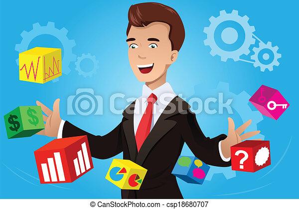homme affaires, concept, idée, avoir - csp18680707